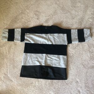CluB Monaco Wool and Leather Sweater